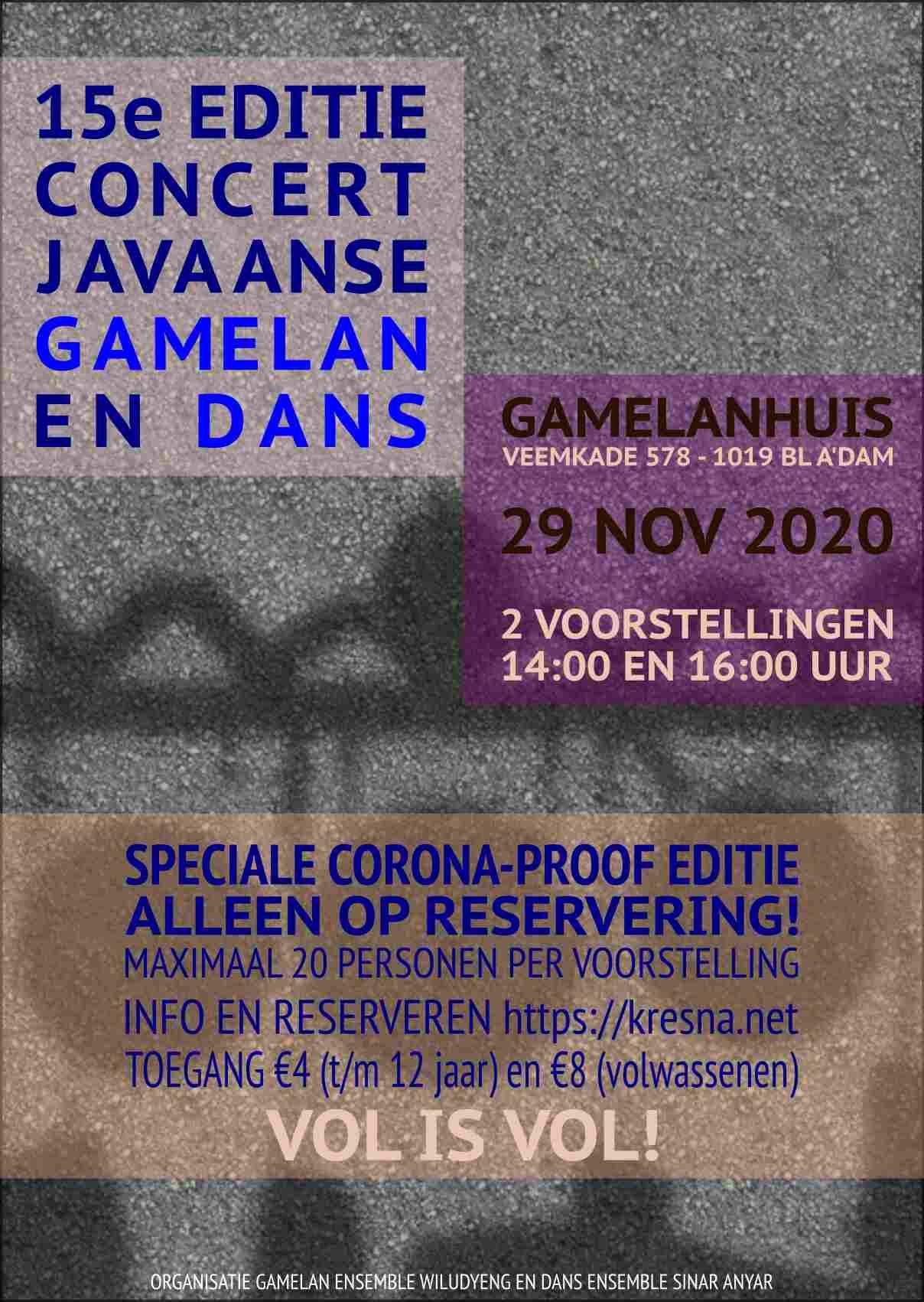 15e editie Concert Gamelan en Dans